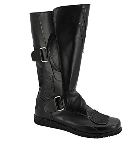Allten Mens Darth Maul Black Leather Boots Shoes Halloween Cosplay Costume (8.5 M US Male)