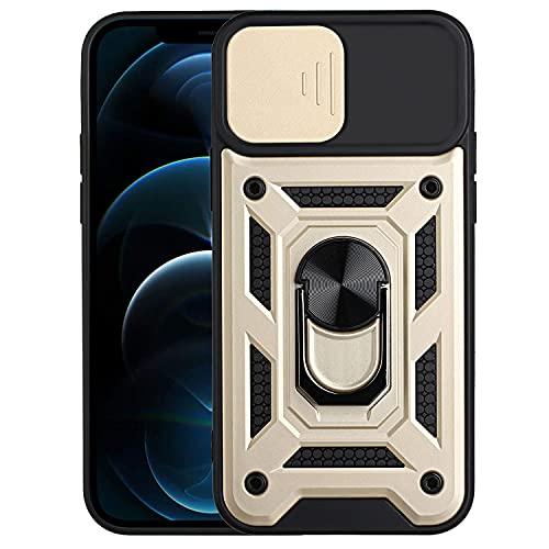EuCase Funda para Xiaomi Redmi Note 10 Pro con Soporte de Anillo Giratorio de 360 Grados, Carcasa para Xiaomi Redmi Note 10 Pro con Protector Cámaras Deslizante, Antigolpes Antirrayas Caso -
