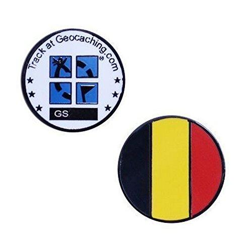 GROUNDSPEAK Country Micro Geocoin - Belgium Belgien, mehrfarbig, 100053