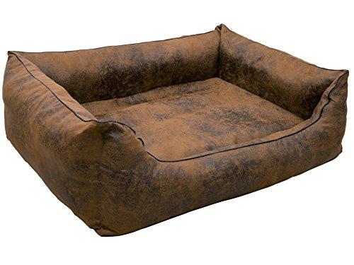 CopcoPet - Hundebetten Emma Wildlederoptik - Antik Braun Gr: XL ca. 110 x 90 cm
