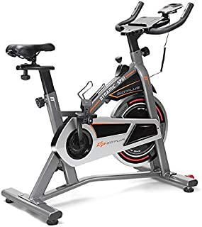 Goplus Indoor Cycling Bike, Stationary Bicycle with Flywheel and LCD Display, Cardio Fitness Cycle Trainer Professional Exercise Bike for Home and Gym Use (17 LBS Flywheel)