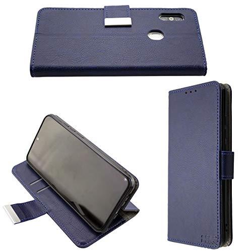 caseroxx Handy Hülle Tasche kompatibel mit Gigaset GS290 Bookstyle-Hülle Wallet Hülle in blau