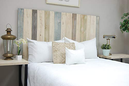 Farmhouse Mix Headboard King Size, Leaner Style, Handcrafted. Leans on Wall. Easy Installation