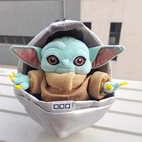 carino il bambino Yoda Grogu in culla giocattoli di peluche farciti adorabili cartoni animati farciti adorabili giocattoli di peluche per bambini 23 cm