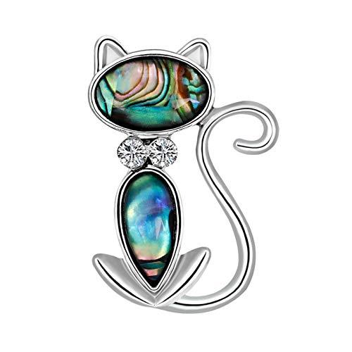 Broches, Broche de gato de moda Pin Insignia Sombrero Bolsa Ropa Chaqueta Accesorios Joyería Regalos - Gato