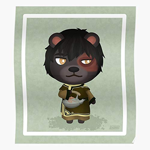 Generic Crossing New Acnh The Animal Avatar Horizons Zuko Last Airbender Tea I Fsgteam- Print Modern Typographic Poster Girl Boss Office Decor Motivational Poster Dorm Room Wall