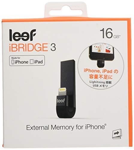 Leef iBridge 3 16 GB Externer IOS Speicher für Apple iPhone - Schwarz
