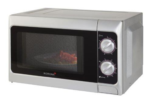 Korona- Mikrowelle 58050 I 700 W I 20 Liter I 5 Leistungsstufen I Grillfunktion |Silber