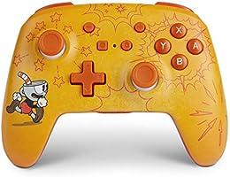 PowerA Enhanced Wireless Controller for Nintendo Switch - Cuphead, Nintendo Switch Lite, Gamepad, Game Controller,...