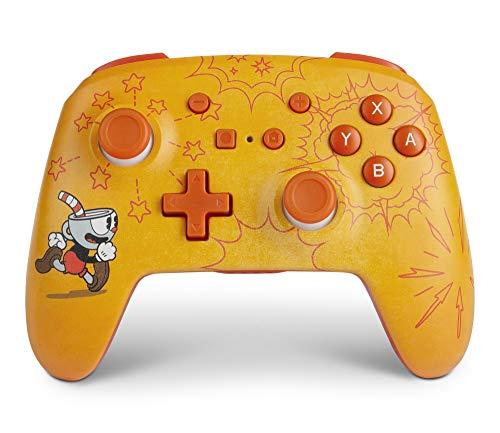 PowerA Enhanced Wireless Controller for Nintendo Switch - Cuphead, Nintendo Switch Lite, Gamepad, Game Controller, Bluetooth Controller, AA - Nintendo Switch (Video Game)