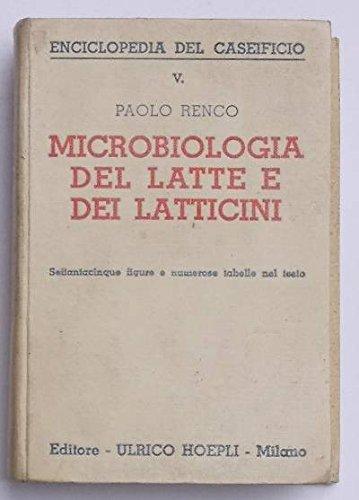 Microbiologia del latte e dei latticini.
