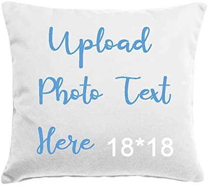 OAHOO Custom Pillowcase Personalized Throw Pillow Cover Print Photo or Text Pillow Cases for product image