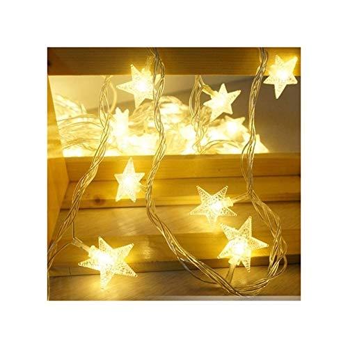 A-myt romántico y cálido 2.5m 20 LED Star Light String Twinkle Guirlands USB Año de Navidad Año Navidad Lámpara Fiesta de Vacaciones Boda Cosmética Fairy Lights Vistoso (Emitting Color : Warm White)