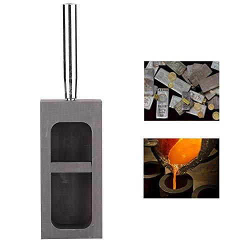 Stampo per lingotti di Grafite di Fusione ad Alta Temperatura Portatile, Stampo di Grafite ad Alta Temperatura, Stampo di Grafite per Oro Argento Rame Ottone Alluminio Metalli Gioielli(2KG)