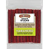 Old Wisconsin Habanero Sausage Snack Sticks, Naturally Smoked, Ready to Eat, High Protein, Low Carb, Keto, Gluten Free, 28 oz Resealable Package, 1.75 Pound