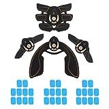 Harilla 4Pack Abdomen Arm Body Muscle Toner Entrenador Estimulador Engranaje Inalámbrico Quemador de Grasa