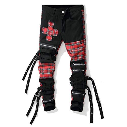 XIALIUXIA Pantalones De Carga para Hombre Pantalones De Trabajo, Otoño Hip Hop Joggers Monos Moda Bolsillos Holgados Pantalones Pantalones Casuales,32