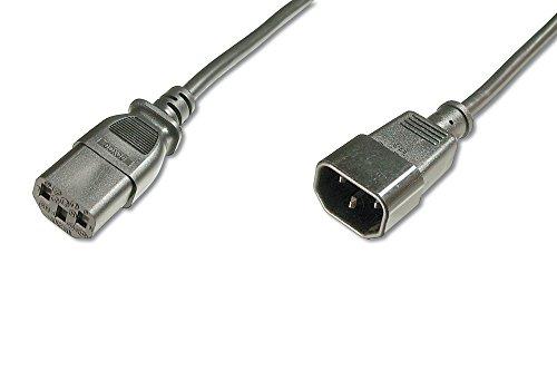ASSMANN Verlängerung für Netzanschluss-, Kaltgerätekabel, EU Version, C14 auf C13, Stecker/Buchse, H05VV-F3G, 0.75 mm², Länge 1.2 m