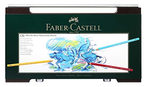 Faber-Castell 117513 - Estuche de madera con 120 ecolápices acuarelables, multicolor