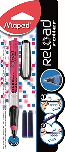 Maped 221210 - Roller encre à cartouche, Pte Moyenne, coloris aléatoire