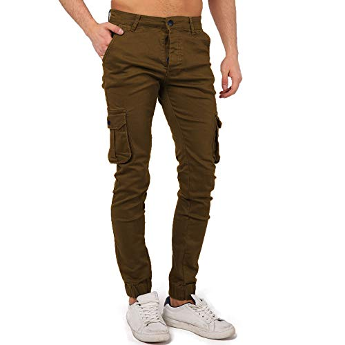 Cargo broek Chino Slim Jogger herenbroek Kargo Jeans Slim Fit Stretch Jogging Outdoor CP01