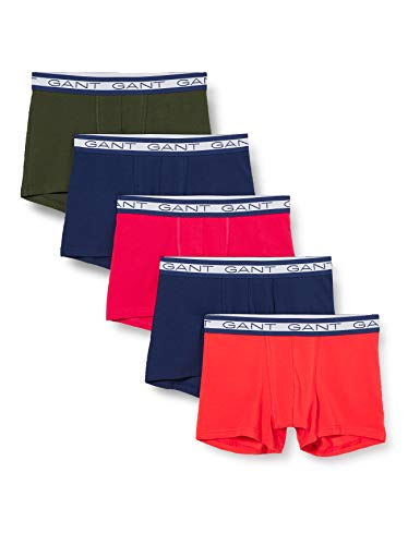 GANT Herren 5-Pack Trunk Seasonal Solids Boxershorts, Atomic ORANGE, L