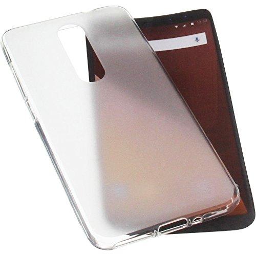 foto-kontor Tasche für Wiko View Prime Gummi TPU Schutz Handytasche transparent weiß