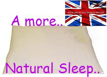 ORGANIC BUCKWHEAT HUSK PILLOW,EXTRA LARGE SIZE ,30 X 20,(76 x 51 cm)4.2 KILO,BRITISH MADE . YOUR USUAL PILLOW IS AS MUCH USE AS A PAPER BAG IN A STORM by PERFECT PILLOW