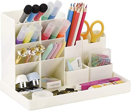 POPRUN Niños Portalápices,organizador de escritorio para lápices, organizador de bolígrafos,cajitas de almacenamiento para niños y niñas, oficina y escuela blanco