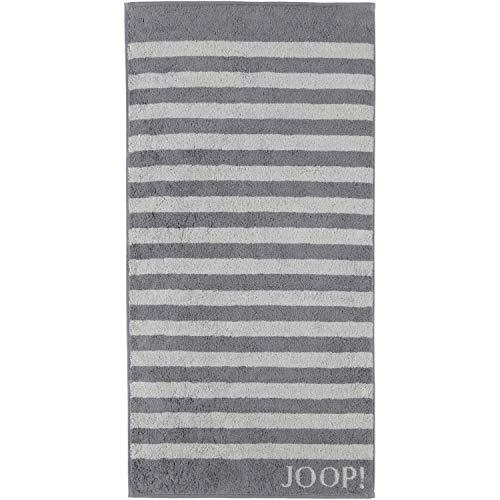 Joop! Handtuch Classic Stripes 1610 | 77 anthrazit - 50 x 100