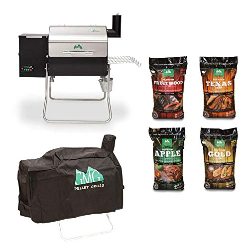 Best Review Of Green Mountain Davy Crockett WiFi Wood Pellet Grill with Cover & Pellet (4 Pack)