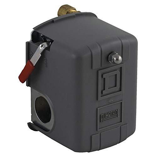 SQUARE D Air Compressor Pressure Switch; Range: 20 to 100 psi, Port Type: (1) Port, 1/4