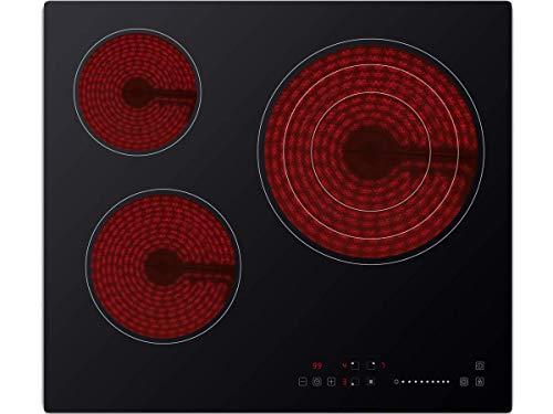 Sauber - Vitrocerámica SEV-01-3 zonas de cocción - Ancho: 60cm