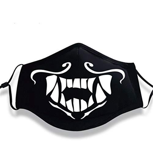 VAWAA Akali Maske Rogue Assassin Cosplay Masken Nachtlichter Leuchtend Wachsen In Dunklen Gesicht Masken Mund Muffle Requisiten