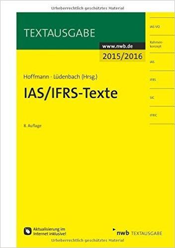IAS/IFRS -Texte 2015/2016 (Textausgabe) ( 22. Juli 2015 )