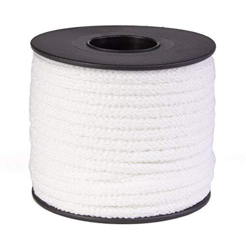Atwood Rope MFG 1/4in 21.6 Yards / 65 feet Plush White Round Sewing Elastic | Elastic Cord for Sewing | Braided Elastic | Elastic for Masks | Tela para Mascarillas (1/4)