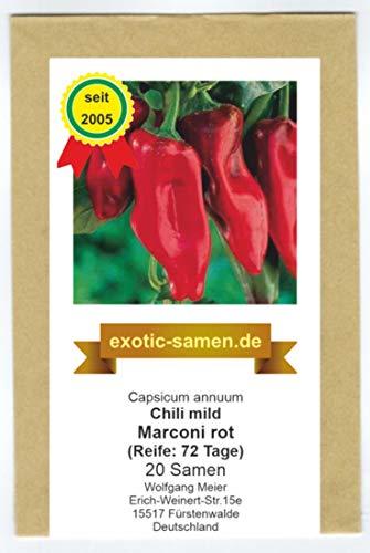 Eine alte, süße Sorte aus Italien - Marconi rot - 20 Samen