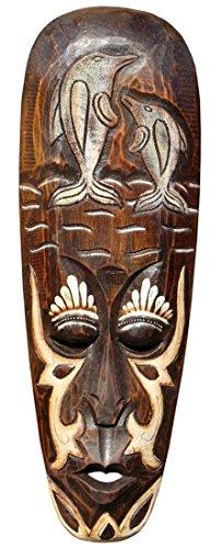 Schöne 50 cm Wand Maske Delfin Dolphin Tribal Maori Holz Tier Afrika Maske 80
