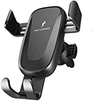Qi Wireless Car Charger Mount,IGUGIG 10W/7.5W Fast Charging, Adjustable Gravity Air Vent Phone Holder for Car Compatible...