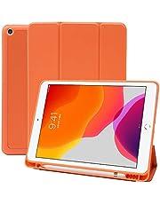 MS factory iPad 10.2 iPad 9.7 iPad Air3 iPad Pro11 iPad mini5 ケース Apple Pencil 収納 耐衝撃 スマートカバー ソフト TPU オートスリープ ペンシルホルダー 全10色