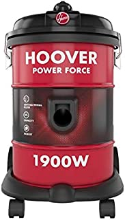 Hoover 1900W Powerforce Tank Vacuum Cleaner With Blower Function and Anti-Bacterial Filter, 18 litre, Red