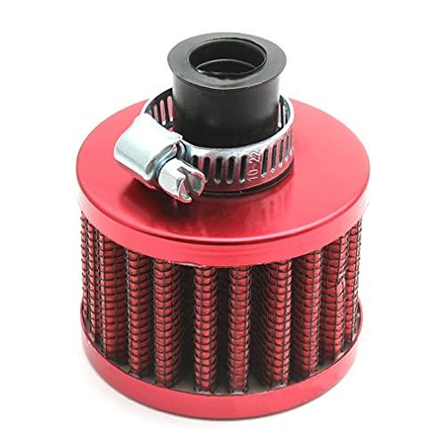 Mini Filtro de admisión de Aire frío de 12 mm, cárter de ventilación Turbo, Cubierta de la válvula de ventilación del Coche, Rojo