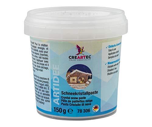 CREARTEC - Schneekristallpaste mit echten Silberkristallen - 150ml - Made in Germany