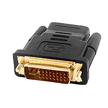 uxcell a16020500ux0981 DVI-I Dual Link 24 5 Male to HDMI Female Connector Adapter