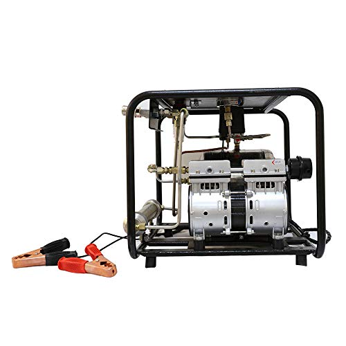 HPDMC Oil-free Hookah Dive System 12V Storage Battery Drive(Battery Not Included) Serface Vacuum Pump with 1x50 FT Hose &...