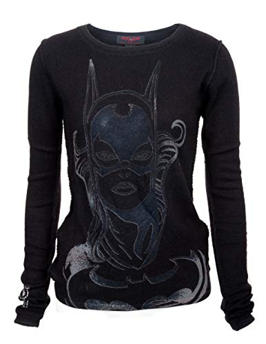 DC COMIC by RAW 7 Limited Edition Batgirl Cashmere Sweater Black