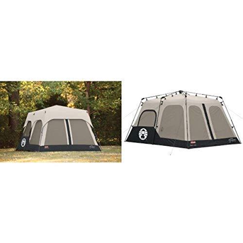 Coleman Accy Rainfly Instant 8 Person Tent Accessory, Black, 14x10-Feet and Coleman Instant 8 Person Tent, Black, 14x10-Feet Bundle