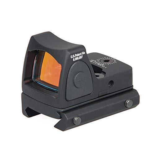 Changli Tactical Red Dot Sight 2 MOA Verstellbare Reflex-Sichtpistole Zielfernrohr 20 mm Halterung