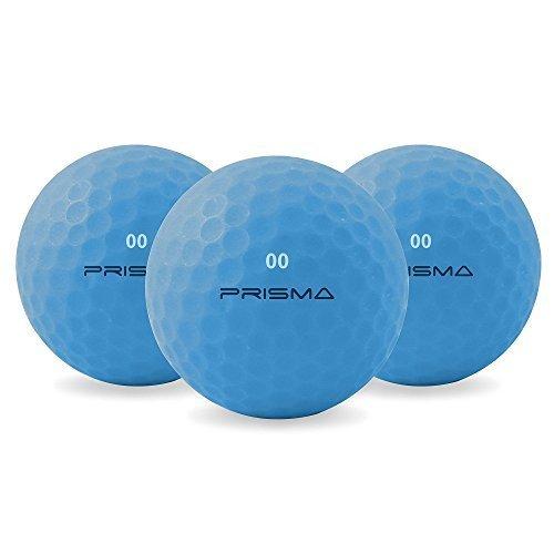 Prisma Fluoro matt Ti Golfbälle x 1 Dutzend (elektro-blau)