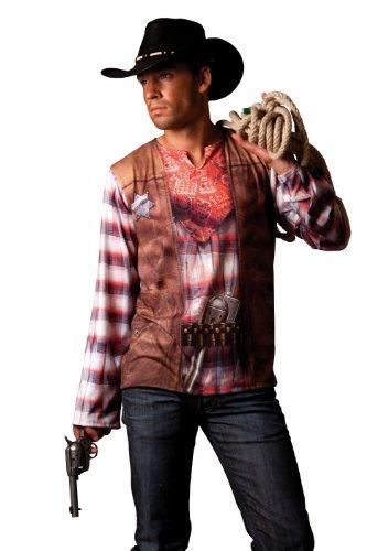 Cesar - B812-007 - Costume - Déguisement - T Shirt Illusion Cowboy - Taille 64